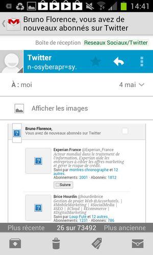 Email twitt