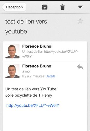 Youtube email debut